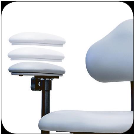 мікрохірургічний стілець висота підлокотників